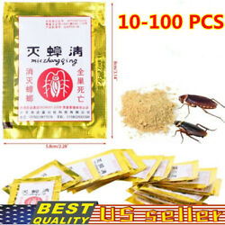 5 100bag Powerful Cockroach Killing Bait Powder Home Pest Killer Insecticide Lot $9.68