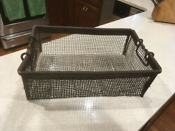 Antique European Commercial Wire Bulb Basket. Very sturdy.