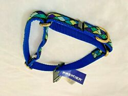 """New Premier Dog Collar 10 16"""" Tuscan Tile with Blue $9.30"""