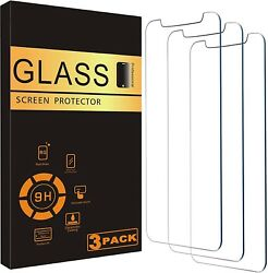 For iPhone 12 11 Pro Max XR X XS Max 8 7 Tempered GLASS Screen Protector 3 PACK $5.95