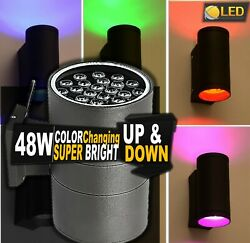 UP amp; DOWN LED 48W RGB FOR HOTELS COMMERCIAL BUILDINGS OUTSIDE WALL ACCENT LIGHT