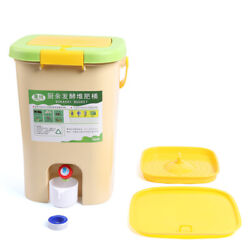 21L Large Capacity Recycle Composter Compost Bin Bokashi Bucket Kitchen FoodSale $62.00