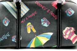 Dooney And Bourke Fun In Sun Beach Theme Barrel Bag Shoulder SB20 BB Black $24.99