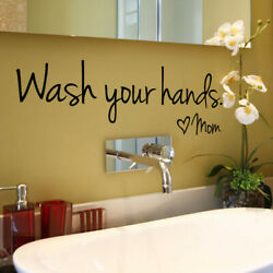 Wash Your Hands Mom Home Decor Wall Sticker Decal Bedroom Vinyl Art Mural $3.99