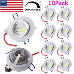 10Pcs Dimmable LED Ceiling Light Recessed COB Downlight Spotlight for Home 110V $45.50