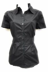 Womens Tailored Short Sleeve Button Down Shirt With premium Stretch s $4.99