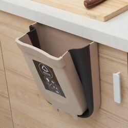 Kitchen Bin Waste Trash Folding Can Recycle Wall Mounted Hanging Door Garbage $29.30