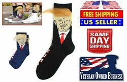 NEW Trump Socks with Hair Donald Trump 3D Fake Hair Socks Novelty Funny Gifts $6.49