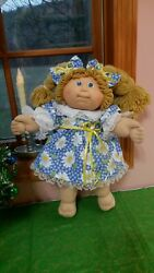 CABBAGE PATCH DOLL CLOTHES HOMEMADE Holiday Daisy#x27;s Cute Party Dress $21.25
