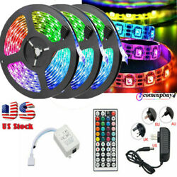 49FT 32FT RGB Flexible LED Strip Light 3528 SMD Remote Fairy Lights Room TV Bar