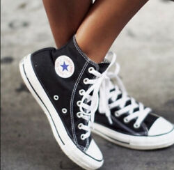 Converse ALL STAR High Top Classic Canvas BLACK Women#x27;s Sneakers M9160 $49.50