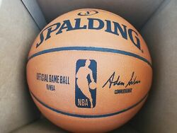 NBA Official Authentic Spalding Full Size Game Ball Basketball Brand New $139.99