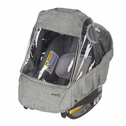 Evenflo Infant Car Seat Weather Shield Rain Cover Ventilated Panels Gray $24.99