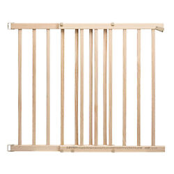 Evenflo New Wood Baby Safety Gate With Child Safety amp; Pet Barrier Natural $39.99