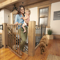 Evenflo Walkthru Top Of Stairs Baby Gate Farmhouse Collection $43.49