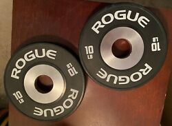 Rogue Fitness 10 pound lb Change Bumper Dumbbell Plate Pair 20 pounds total $149.00