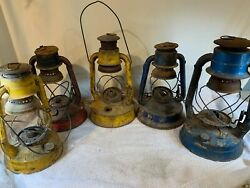 dietz lantern vintage Large Lot Parts Barn Find Many sizes colors A812 $110.00