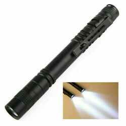LED Flashlight Clip Mini Torch Pen Shape Light Lamp Small Lamps Outdoor Acces $3.28