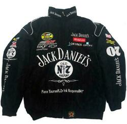 Autumn Winter Jack Daniels Motorcycle Racing Jacket Embroidered cotton padded $46.99