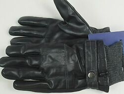 ISOTONER Signature Men#x27;s Faux Leather Driving Gloves. Black MEDIUM. NEW $8.39
