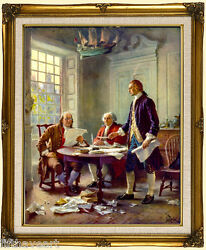 Writing the Declaration of Independence Framed Art Print $65.00