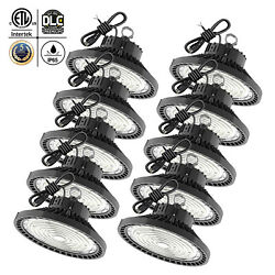 10 Pack 150W UFO LED High Bay Light Warehouse Factory Commercial Light Fixtures