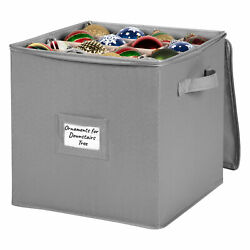 Christmas Ornament Storage Container – Heavy Duty 600D Canvas $16.97