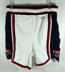 1994 Team USA Game Issued White Shorts Champion 36 710791S $249.99