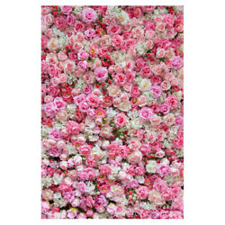 Pink Rose Flower Wall Backdrop Wedding Birthday Party Photo Background 5*7ft $19.94