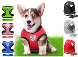 Mesh Padded Soft Puppy Pet Dog Harness Breathable Comfortable Many Colors S M L $7.45