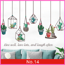 Wall Sticker Plants Wall Decorations Reusable And Removable Living Room Bedroom $14.69