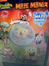 Nickelodeon SPONGEBOB SQUAREPANTS Maze Mania MAZE BOOK With Toy On Cover NEW $5.90