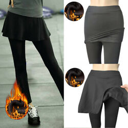 Plus Size Women Fake Two Piece Skirt Pants Skinny Slim Leggings Pencil Trousers $14.46