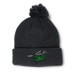 Pom Pom Beanies for Women Helicopter A Embroidery Winter Hats for Men Skull Cap $17.99