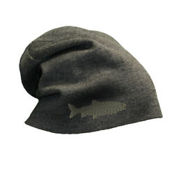 Slouchy Beanie for Men Lake Trout Embroidery Winter Hats Cotton Women Skull Cap $18.99