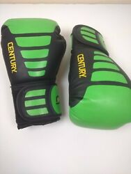 6oz PAIR CENTURY BRAVE BOXING TRAINING MARTIAL ARTS GLOVES BLACK GREEN $19.99
