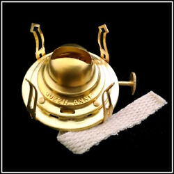 BEST QUALITY AVAILABLE REPLACEMENT #0 QUEEN ANNE BRASS OIL LAMP BURNER $19.95