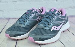 SAUCONY GRID Cohesion 12 Womens Gray White Pink Running Shoes Size 7.5 $29.90