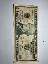 One 1 2013 $10 Star Note Rough Shape $14.00