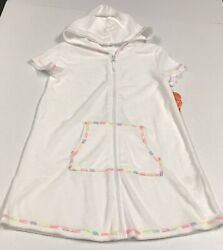 Wonder Nation Girls White Beach Terry Cover Up Size M 7 8 NWT $13.99