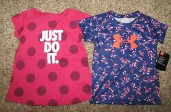 Nike and Under Armour Mixed Shirt Lot Girls 24 Months