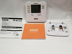 Vive Wall Non Programmable Thermostat TP N 721 Used Powers On Complete Tested $8.49