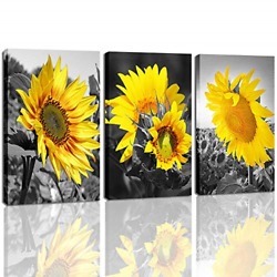 Pictures for Bathroom Sunflower kitchen Decor Flower Pictures on Canvas DVQ ART $33.38