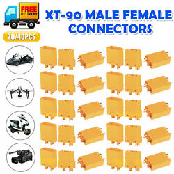 40 20x Male Female XT90 Connector Amass 4.5mm Adapter Protective for RC Battery $15.98