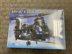 Italeri 1:72 Scale MH 47 E SOA Chinook Helicopter Kit #1218 Sealed Box *ST $30.00