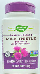 Nature#x27;s Way Premium Blend MILK THISTLE Supports Liver Function 120 Vegan Caps $26.59