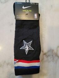 Nike Elite Crew Jordan 2019 NBA All Star Socks Black Basketball Jumpman $12.99