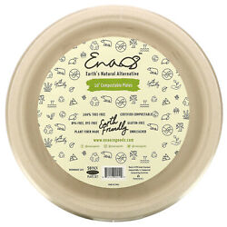 10quot; Compostable Plates 50 Pack $17.94