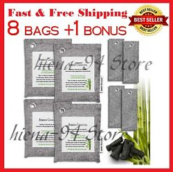Air Purifying Bag Purifier Nature Fresh Charcoal Bamboo Mold Freshener 8 Bags $16.49