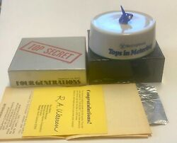 Rare Vintage Westinghouse Electric 1972 Top Secret Top Toy 1972 SEE VIDEO RARE